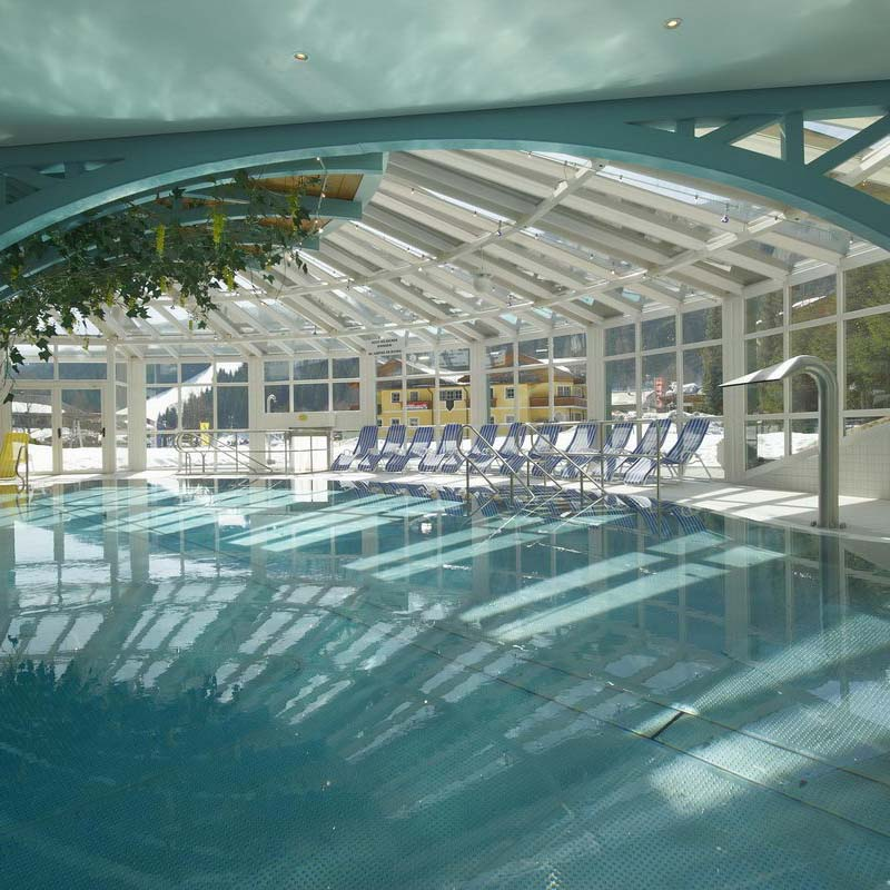 Free access to the indoor swimming pool and sauna