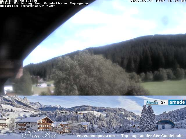 Webcam 2 with view to the valley station Pagagenobahn